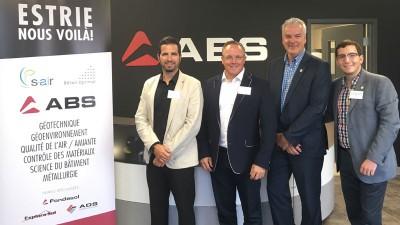 Groupe ABS investit un million pour l'ouverture d'un bureau à Sherbrooke